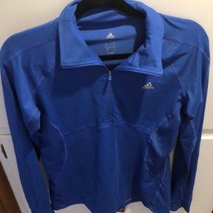 Adidas Blue Quarter Zip Athletic Top